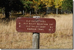 image of a sign at old blady trail in south dakota black hills national forest
