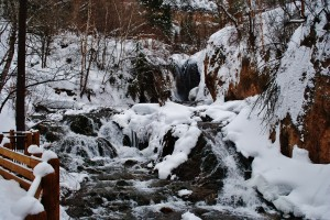 winter time at roughlock falls in Spearfish Canyon