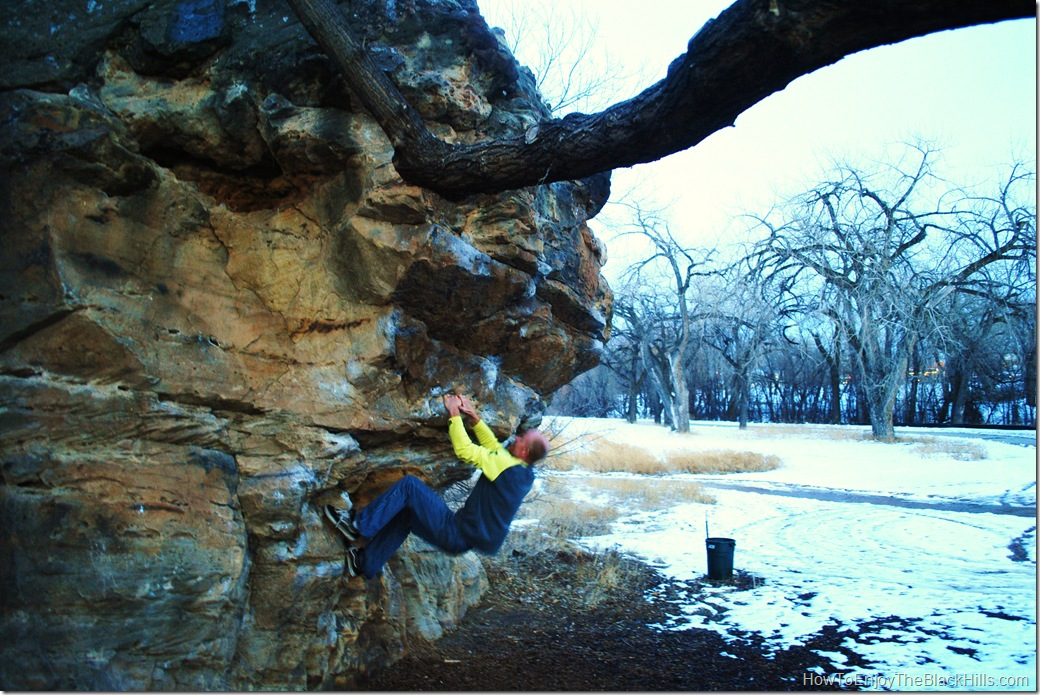 photo vegan rock a place for bouldering in Rapid City SD