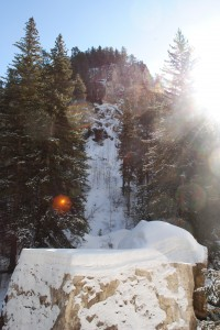 photo of kissing rocks in spearfish canyon black hills national forest of south dakota
