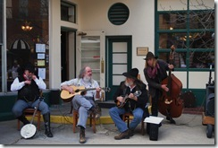 image musicians on Deadwood's Main Street