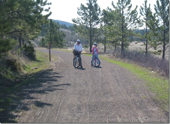 image two bicycle riders on the George S Mickelson Trail in South Dakta