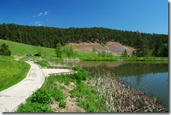 image pond on Strawberry Hill Black Hills National Forest