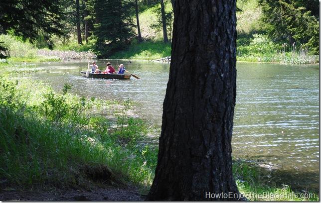 photo boat on Lake Dalton Black Hills SD