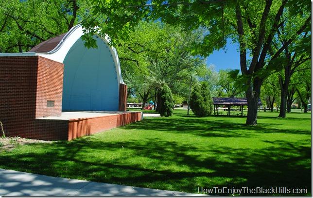 photo Band Shell, Herrmann Park, Belle Fourche South Dakota