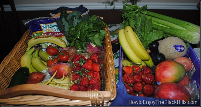 photo of conventional and organic bountiful basket