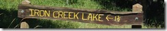 image Iron Creek Lake sign