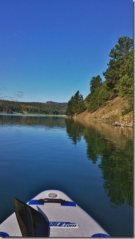 photo of SUP on Deerfield Lake, South Dakota Black Hills