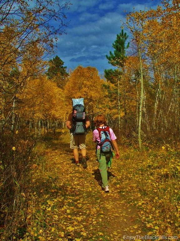 hiking and black hills Before you start this adventure, make sure you're wearing shoes that will not be ruined by crossing creeks.