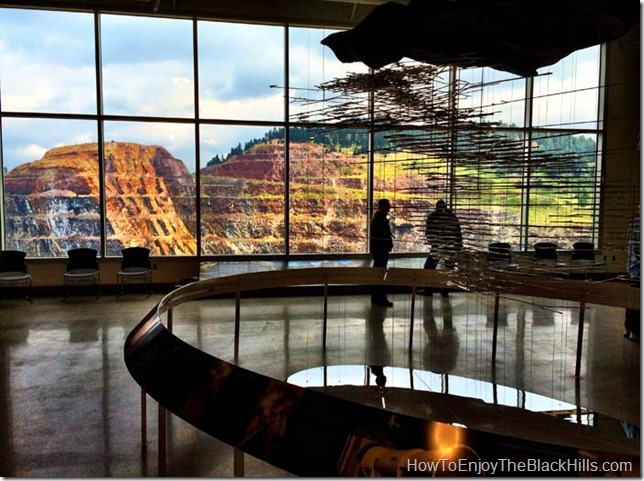 visitors center at the homestake open pit mine lead sd