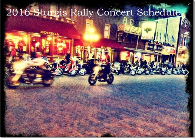 2016 Sturgis Rally Concerts
