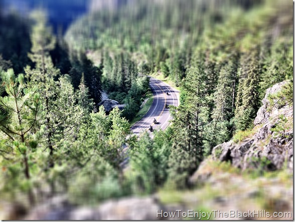 pic of bikes from the top of 11th hour gulch in spearfish Canyon